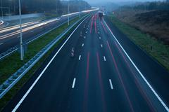 Motorway A28 at dusk Stock Photos