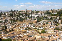 View on Alhambra and Granada Stock Photos