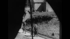 WW2 Britan Civil Life 15 Mixed: Church, Soldier, Family, Motorway, City, Traffic Stock Footage