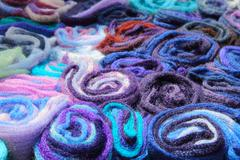 Traditional estonian knitted textile Stock Photos