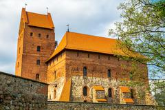 castle tower and building - stock photo