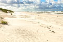 Sand beach on the baltic sea Stock Photos