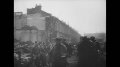 WW2 Britan London Aftermath of German Bombing 02 - stock footage