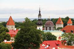 Towers of Tallinn - stock photo