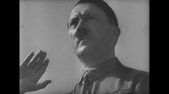 WW2 German Hitler 02 Important NS People, Speeches with detail Stock Footage