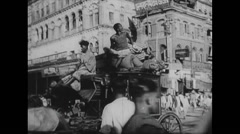 WW2 India Civil Life 02 Mixed Daily Life Activities 01 Stock Footage