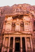 Al Khazneh or The Treasury at Petra, Jordan Stock Photos