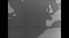 WW2 Map Animation 01 Britain And Europe, German conquests Stock Footage