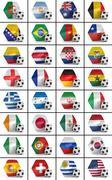 soccer championship nations set - stock illustration