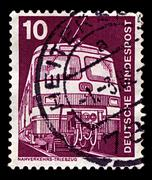 Germany-circa 1975:a stamp printed in germany shows image of transport 420/42 Stock Photos