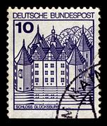 Germany-circa 1977:a stamp printed in germany shows image of the house of sch Stock Photos