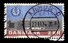 denmark-circa 1972:a stamp printed in denmark shows image of administrative o - stock photo
