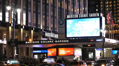 Stock Video Footage of Madison Square Garden. MSG New York City. Rangers Hockey