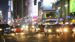 Harold Square, Penn Station area at night. - stock footage