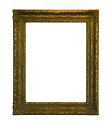 Antique picture frame with clipping path - stock photo