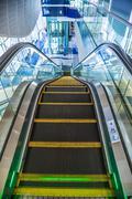 Automatic Stairs at Dubai Metro Station - stock photo