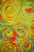 Abstract hand painted background on canvas Stock Photos