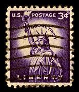 usa-circa 1956:a stamp printed in usa shows image of 5 international stamp ex - stock photo