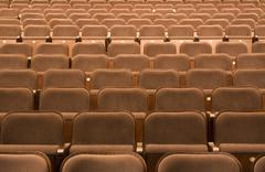 Seats in a theater - stock photo