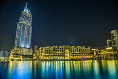 Address Hotel in the downtown Dubai area overlooks the famous da Stock Photos