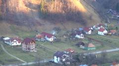 View Sunset, Twilight, Dusk, Mountains Landscape, Mountaintop Background Stock Footage
