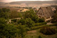 Stock Photo of farmhouse in a field, altstadt-lehel, munich, bavaria, germany