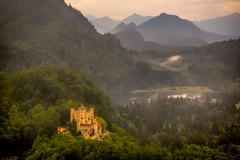 Stock Photo of castle on a hill, altstadt-lehel, munich, bavaria, germany