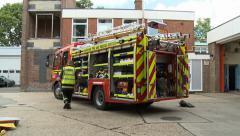 Modern British Fire Engine & Equipment - stock footage
