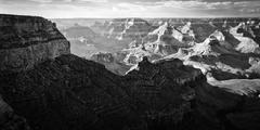 rock formations in a canyon, grand canyon, grand canyon national park, arizon - stock photo