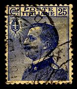 Italy-circa 1908:a stamp printed in italy shows image of victor emmanuel iii  Stock Photos