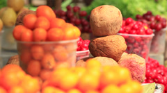 Vegetables on the Market. Stock Footage