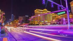 Las Vegas Street Time Lapse Stock Footage