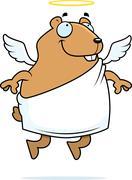 Hamster angel Stock Illustration