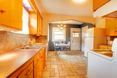 Dining and kitchen room interior Stock Photos