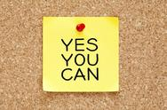 Stock Illustration of yes you can sticky note
