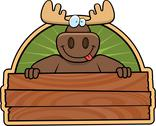 Stock Illustration of moose sign