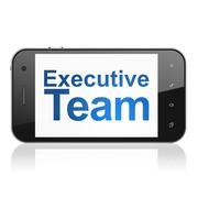Finance concept: Executive Team on smartphone Stock Illustration