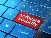 Stock Illustration of Safety concept: Software Security on computer keyboard background