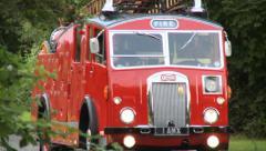 Vintage Denis F12 Fire Engine Stock Footage
