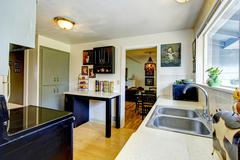 old fashion small kitchen room - stock photo