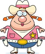 Cowgirl smiling Stock Illustration