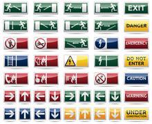 Danger warning sign Stock Illustration