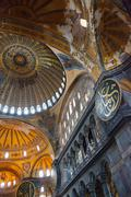 Hagia Sophia (Ayasofya) ornamental ceiling - stock photo