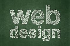 Stock Illustration of Webdesign concept: Web Design on chalkboard background