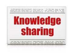 Education concept: newspaper headline Knowledge Sharing Stock Illustration