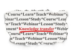 Stock Illustration of Education concept: Knowledge Transfer on Paper background