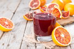 Stock Photo of blood orange juice