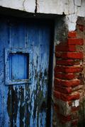 Stock Photo of Houses Doors Windows in Decay