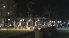 Night in San Juan Bay Stock Footage