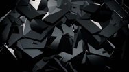 Stock Video Footage of Abstract ridged surface in black color